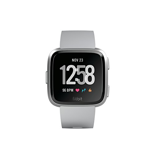 Fitbit Versa Health & Fitness Smartwatch, grau, One Size, FB505SRGY-EU
