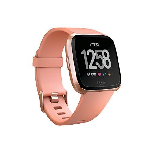 Fitbit Versa Health & Fitness Smartwatch, pfirsich, One Size, FB505RGPK-EU