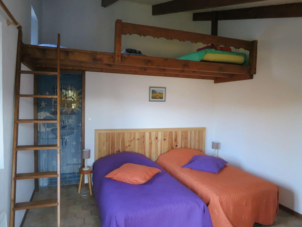 chambre avec SdB proche de la Palud-sur-Verdon