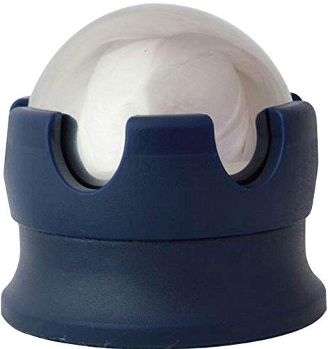 Massage Ball Hot und Cold Roller Ball–Muskelschmerzen Schnell mit Edelstahl Gel Kugeln für Wärme oder Eis-Therapie, blau