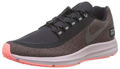 Nike Damen Zm Winflo 5 Run Shield Laufschuhe Violett (Smokey Mauve/MTLC Silver/Oil Grey/Particle Rose/Black 200) 39 EU