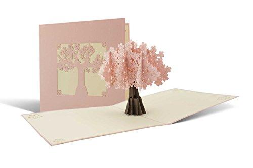 Karte zum Muttertag mit Kirschbaum, schöne Karte für den Frühling, Glückwunschkarte, Geburtstagskarte, Geschenkkarte, Pop-Up-Karte, F09