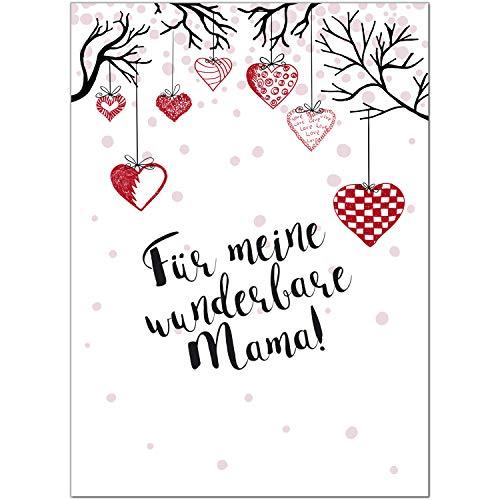 Postkarte Für meine wunderbare Mama/Moderne Karte mit Umschlag/zum Muttertag/für Mama