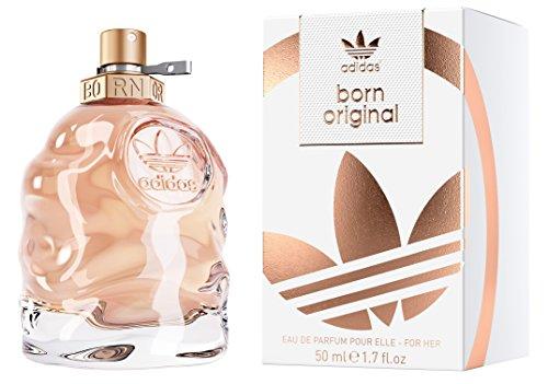 adidas Born Original Eau de Toilette - Fruchtig-blumiges Damen Parfüm mit explosivem Mix aus kontrastierenden Düften - 1 x 50 ml