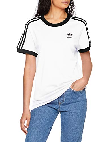 adidas Damen 3-Stripes T-Shirt, White, 36