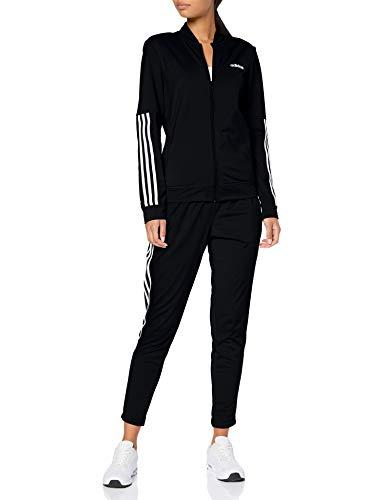 adidas Damen Back2Basics 3-Streifen Trainingsanzug, Black/White, S