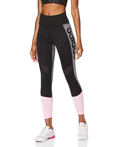 adidas Damen Design 2 Move Colorblock High-Rise 7/8 Tights, Black/True Pink, M