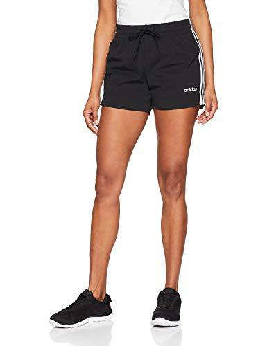 adidas Damen Essentials 3-Streifen Shorts, Black/White, M