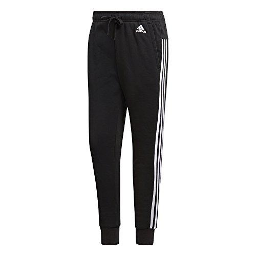 adidas Damen Essentials 3 Streifen Tapered Hose, schwarz (Black/White), M