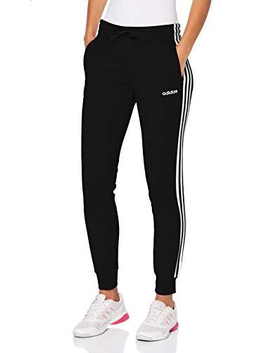 adidas Damen Essentials 3-Streifen Trainingshose, Black/White, XL