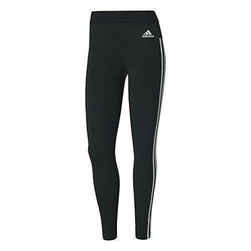 adidas Damen Essentials 3-Stripes Tights, Black/White, M