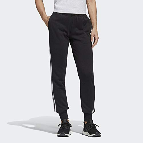 adidas Damen Must Haves 3-Streifen Trainingshose, Black/White, XL
