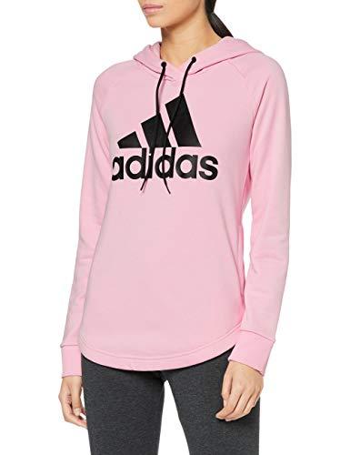 adidas Damen Must Haves Badge of Sport Hooded Sweatshirt, True Pink, Größe S