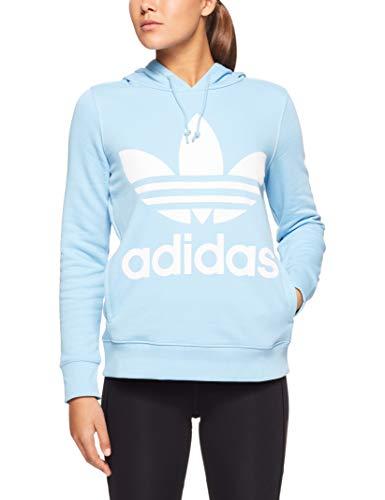 adidas Damen Trefoil Hoodie, Clear Blue, 38