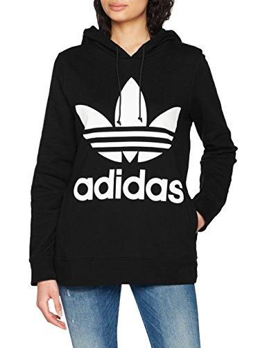 adidas Damen Trefoil Kapuzenpullover, schwarz (black), 36
