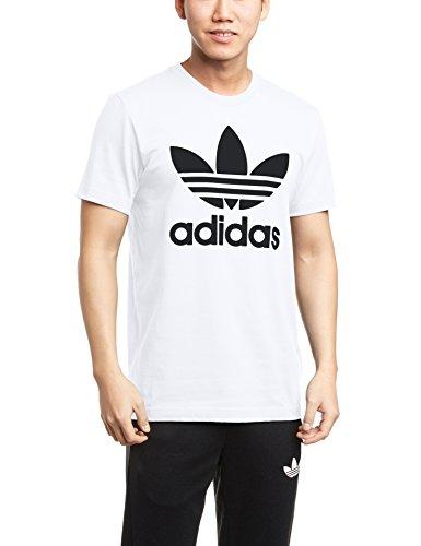 adidas Herren T-shirt Originals Trefoil White, L