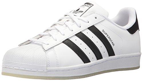 adidas Unisex-Erwachsene Superstar Low-Top, Weiß (Ftwr White/Core Black/Ftwr White), 42 EU