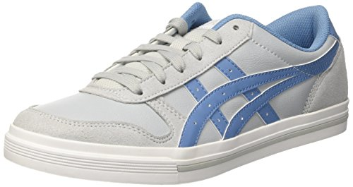 Asics Aaron, Herren Low-top, Grau (Midgrey/Blue Heaven), 42.5 EU