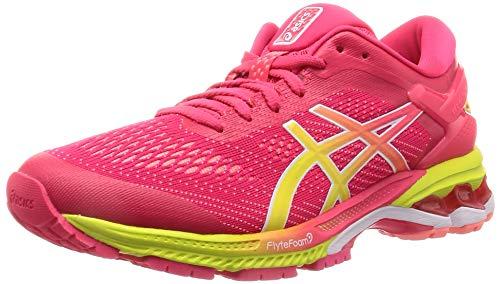 ASICS Damen Gel-Kayano 26 Laufschuhe, Laser Pink/Sour Yuzu 700, 39.5 EU