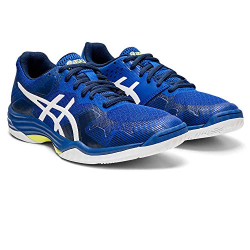Asics Damen Gel-Tactic Volleyballschuhe, Blau Blue/White 400, 40.5 EU