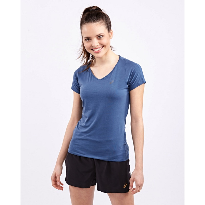 Asics V-NECK SHORTSLEEVE TOP - Damen
