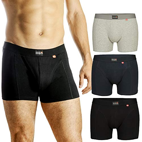 DANISH ENDURANCE Herren Boxershorts (Marineblau - 3 Pack, Medium)