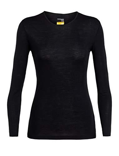 Icebreaker Damen 175 Everyday LS Crewe T-Shirt, Black, M