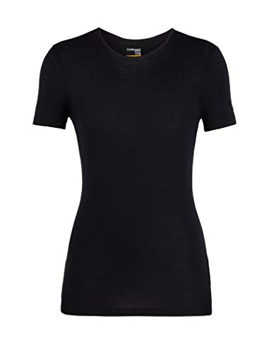 Icebreaker Damen 175 Everyday SS Crewe T-Shirt, Black, M