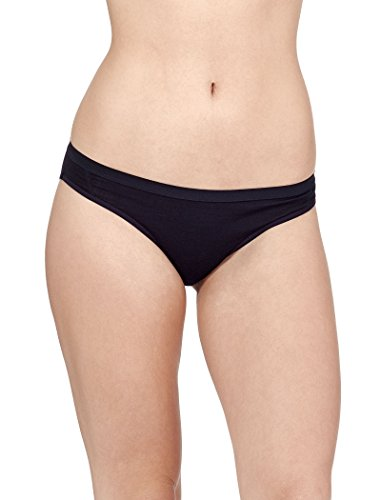 Icebreaker Damen Funktionsunterwäsche Siren Bikini Slip, schwarz, M