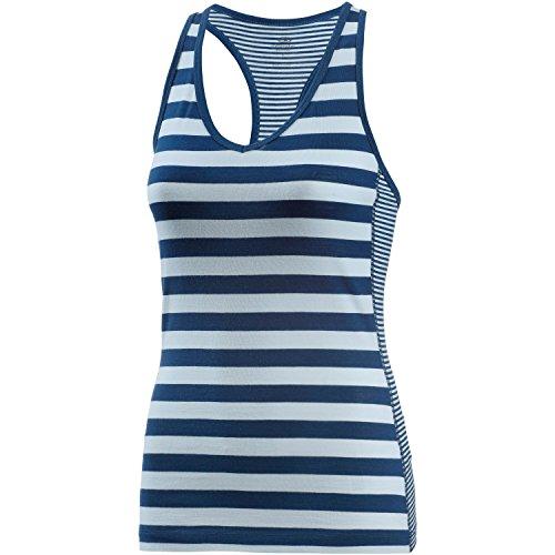 Icebreaker Damen Merino Sprite Workout & Layering Tank Cool-Lite Wolle Jersey Mischgewebe für Sommer, Damen, Ice Blue/Largo/Stripe, X-Large