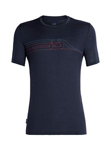 Icebreaker Herren Mens Tech Lite SS Crewe Cadence Pulse T-Shirt, Midnight Navy, XXL
