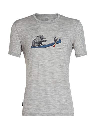 Icebreaker Herren Mens Tech Lite SS Crewe Canoe Companions T-Shirt, Metro Hthr, M