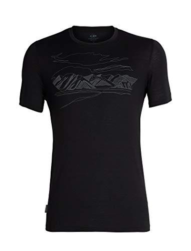 Icebreaker Herren Mens Tech Lite SS Crewe Coronet Peak T-Shirt, Black, L