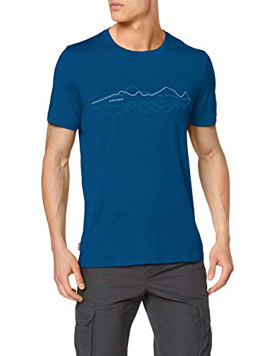 Icebreaker Herren Mens Tech Lite SS Crewe Original T-Shirt, Isle, L