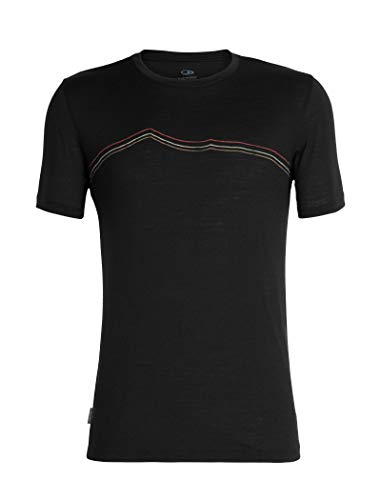 Icebreaker Herren Mens Tech Lite SS Crewe Rangitoto Triple T-Shirt, Black, L