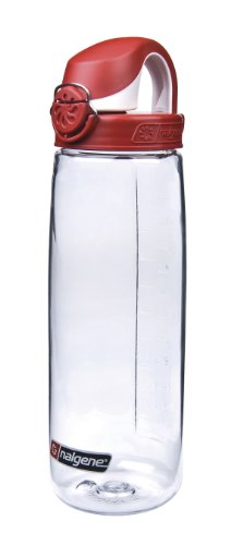Nalgene Trink und Kunststoffflasche Everyday OTF, 0.65 Liter, Transparent/Red, 5565-1024
