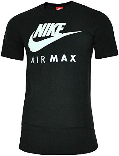 NEU Nike Herren Markenzeichen Designer Fitness Gym Rundhals Air Max T-shirt S-2XL - Herren, Schwarz, L