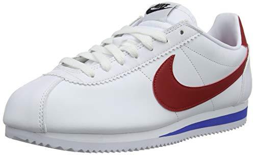 Nike Damen Classic Cortez Leather Laufschuhe, Weiß (White Red/Varsity Royal 103), 41 EU