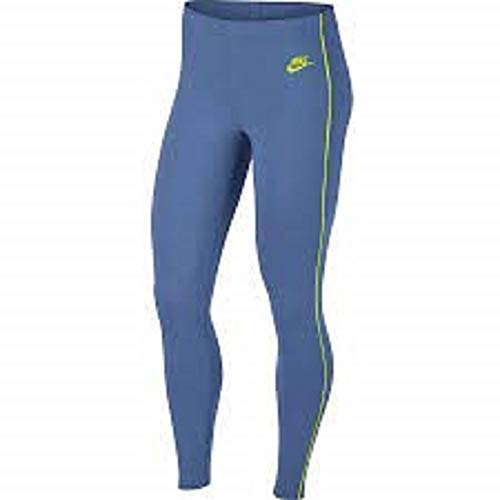 Nike Damen Heritage Leggings, Indigo Storm/Cyber, XS