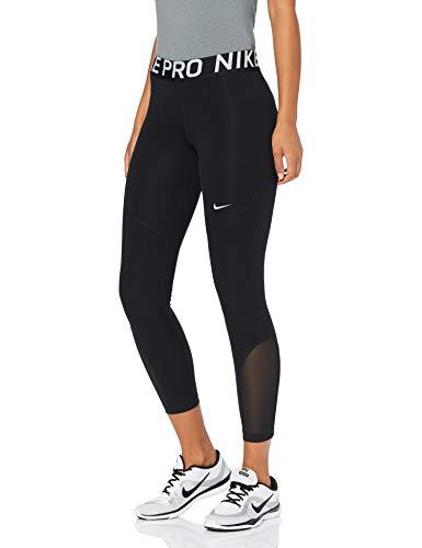 Nike Damen W NP Crop TGHT 7/8 Pants, Black/White, M