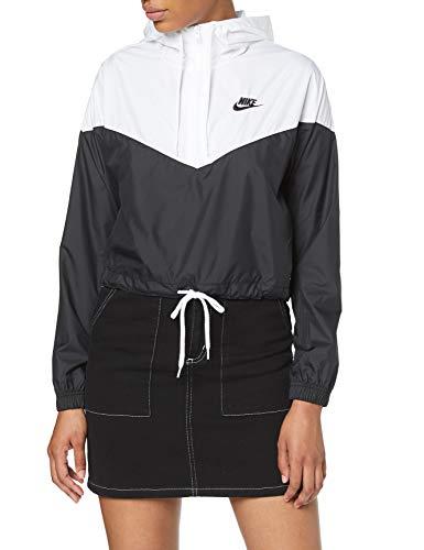 Nike Damen W NSW HRTG JKT WNDBRKR Jacket, Black/White, L