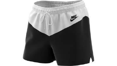 Nike Damen W NSW HRTG WVN Shorts, Black/White, M