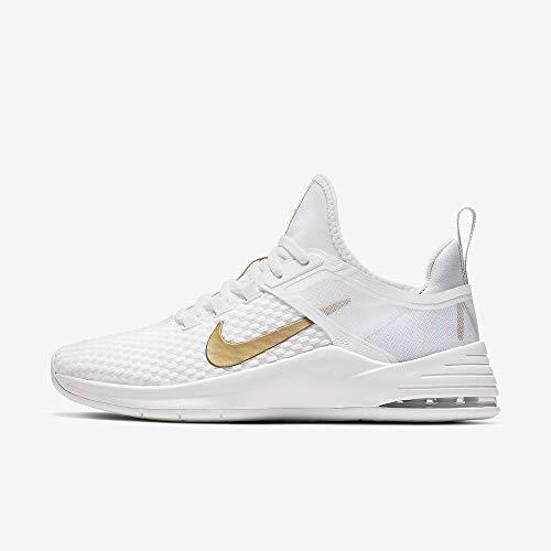 Nike Damen WMNS Air Max Bella Tr 2 Fitnessschuhe, Mehrfarbig (White/Metallic Gold/Pure Platinum 000), 38.5 EU