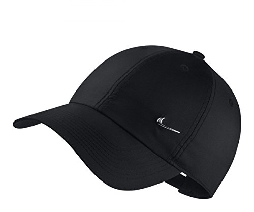Nike Erwachsene Sportswear Heritage86 Schirmmütze, Black/Metallic Silver, One Size