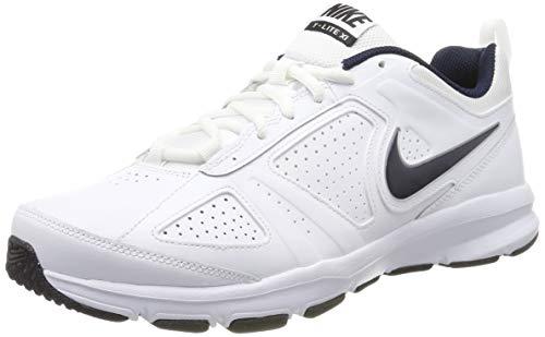 Nike Herren T-Lite Xi Low-Top, Weiß (White/Obsidian-Black-Metallic Silver 101), 43 EU