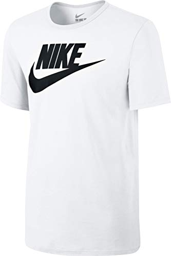 Nike Herren Tee-Futura Icon Training T-Shirt, Weiß/Schwarz, M