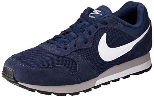 Nike Md Runner 2, Herren Gymnastikschuhe, Blau (Midnight Navy/White-Wolf Grey), 46 EU